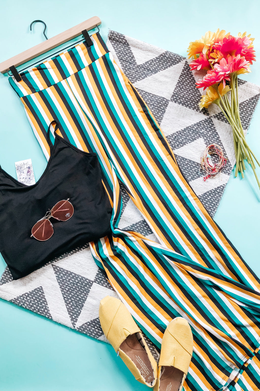 Seductive Stripes Bell Bottoms - Atomic Wildflower