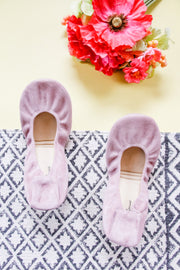 The Storehouse Flats - Mauve Blush • Suede Collection - Atomic Wildflower
