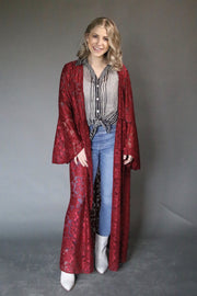 Love + Lace Duster • Wine - Atomic Wildflower