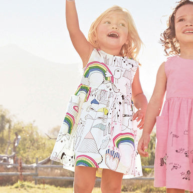 Rainbow Unicorn Dresses for Little Toddlers Girls 2-7 years - Fairybi