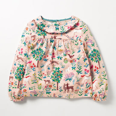 Fall Forest Long Sleeve T-shirt for Toddlers Girls 2-7 Years - Fairybi