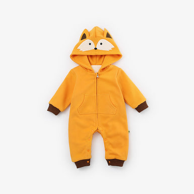 2018 The Newest Trendy Stunning Fox Hooded Jumpsuit for Baby - Fairybi