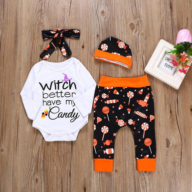 'Witch better have my candy' - The 2018 New Exclusive Halloween Clothing Sets for Baby - Fairybi