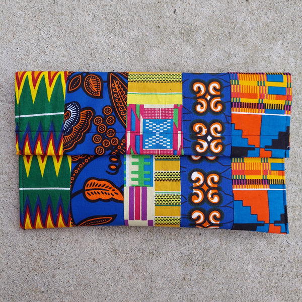 MultiPrint Ankara Clutch