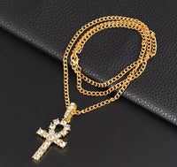 Jeweled Ankh Necklace