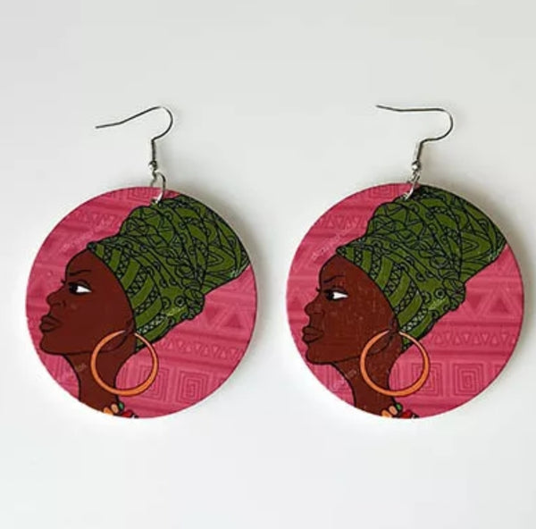 Green Headwrap Earrings