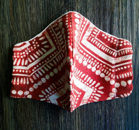 Tribal Red Face Masks