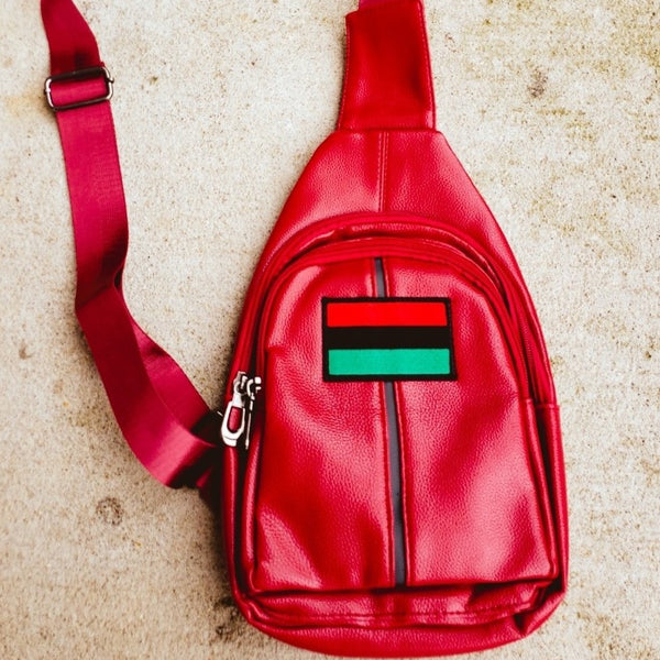African American Flag Chest Bag