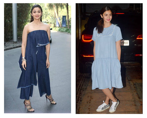 Alia Bhatt wearing a dress