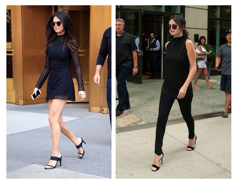 Selena Gomez in black outfit