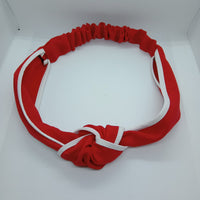 Red and White Hairband