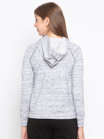 Contrast Stitch Sweatshirt With Drawcord