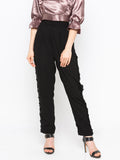 Solid Lace Trimed Pant