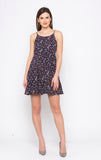 Navy Ditsy Print Dress