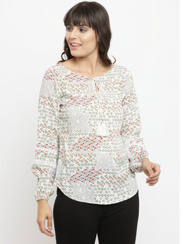 Women's Top with Tie Up at Front