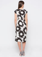 Black Sunflower Printed Cut Out Dress