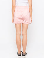 Peach Front Tie Up Shorts
