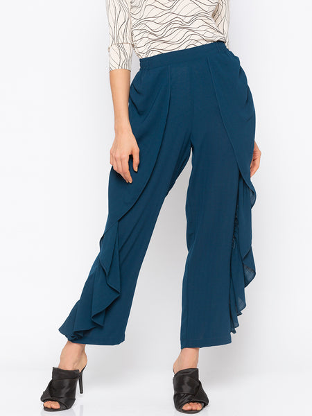 Teal Flare Leg Pant