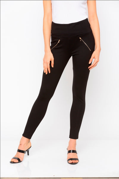 Black Side Zip Detail Jeggings