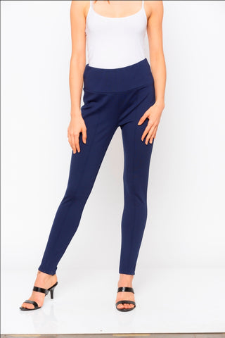 Navy Solid Jeggings