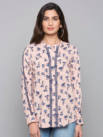 V Neck Printed Shirt
