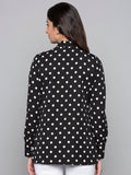 Polka Dot High Neck Top