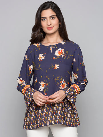 Printed Bell Sleeves Top
