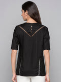 Criss Cross Lace Plain Top