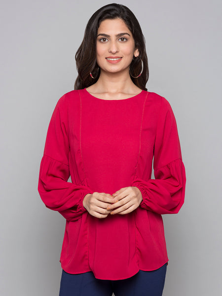 Solid Top With Bishop Sleeves