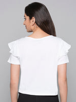 Embroidered Sequin Detail T-Shirt
