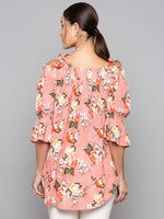 Floral Off-Shoulder Long Top