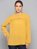 High Neck Yellow Solid Top