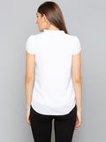 White Solid Tulip Sleeves top