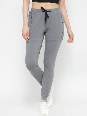 Grey Panelled Joggers