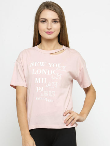 Women's T-shirt With Print At Front
