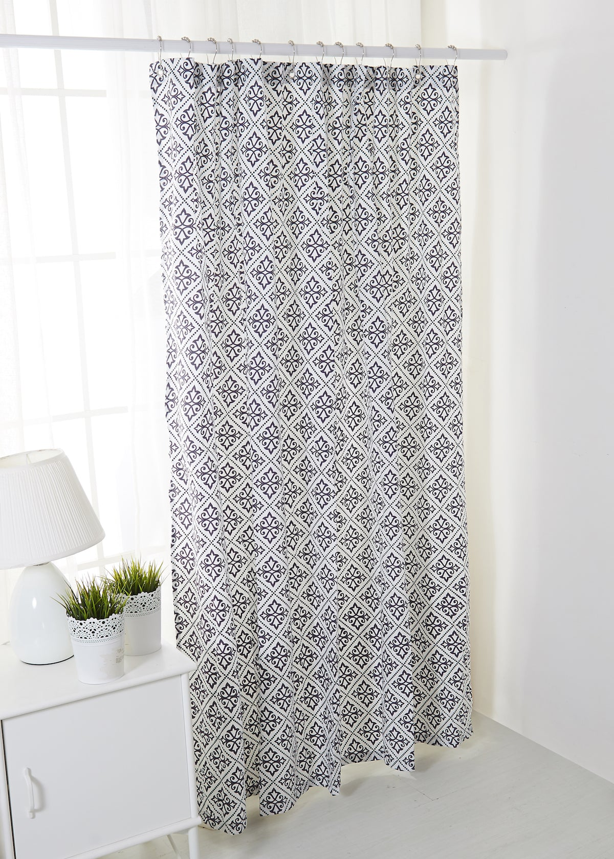 overstock curtain manor avondale product bedding shipping curtains today charcoal shower ella free bath