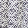 Charcoal grey and white pattern shower curtain (0820033)