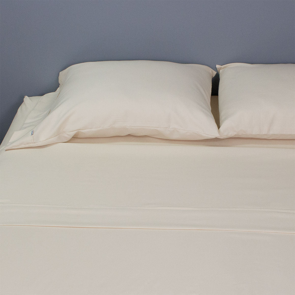 High Quality Solid Color Bed Sheet Set With Piping   Light Gray, Dark Gray  Or Beige   90 Gsm Microfiber (0350004)