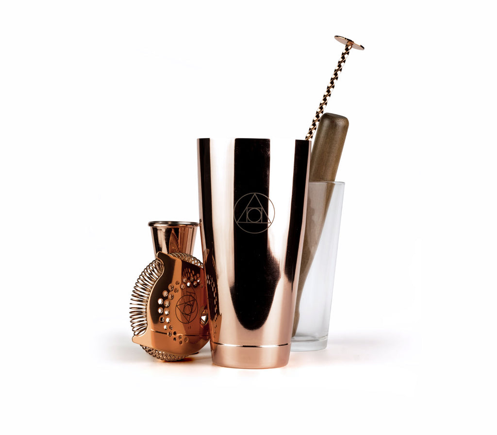 Alchemist branded Cocktail sets - Rose Gold
