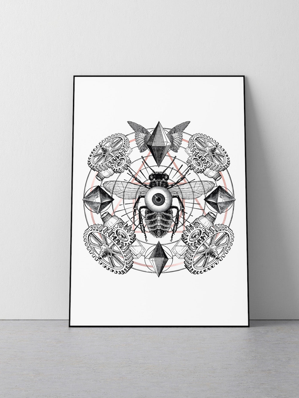LIMITED EDITION - WORKER BEE ROSE GOLD FOIL PRINT