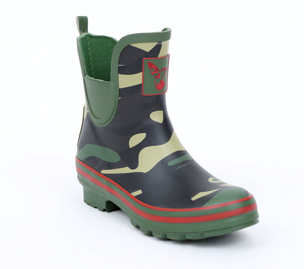 Evercreatures Camouflage Meadow Ankle Wellies