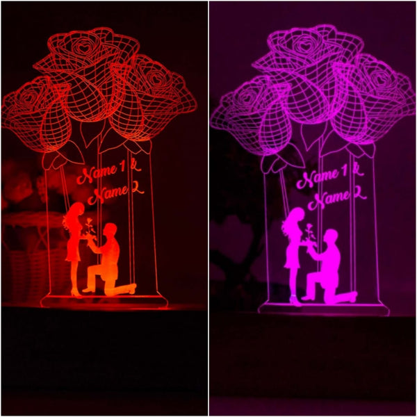 Personalized 3D Illusion LED LAMP(9 Inches Height x 5-inch Width)