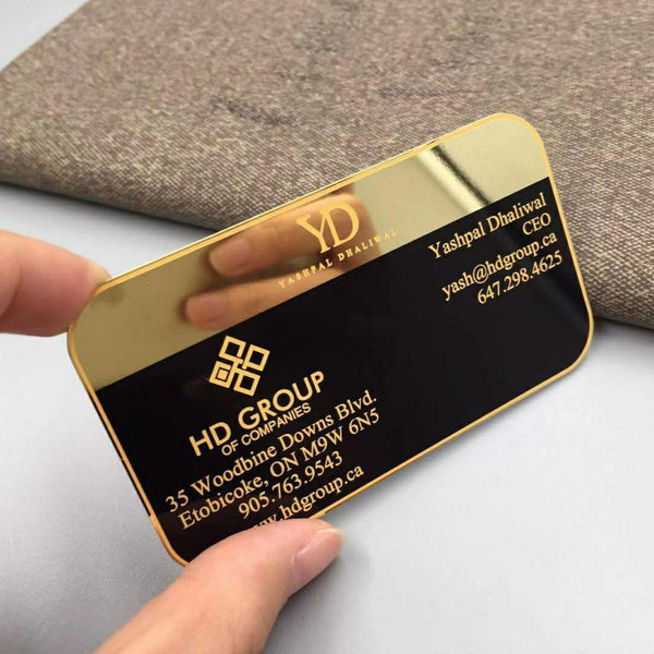 Mirror Gold-Metal-Business Card