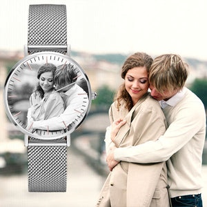 Personalized Silver Alloy  Watch