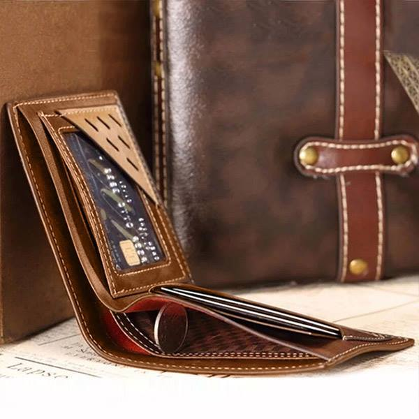 Personalized Engraved Leather Men's Wallet