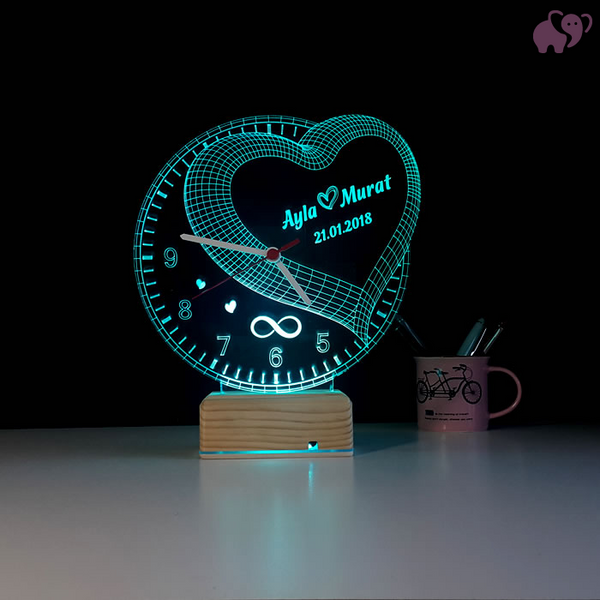 Personalized 3D Illusion LED  LAMP(10 Inches Height x 8-inch Width) ⭐️⭐️⭐️⭐️⭐️  CUSTOMER REVIEWS