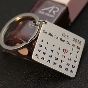 Personalized Metal Engraved Calender Key-Chain