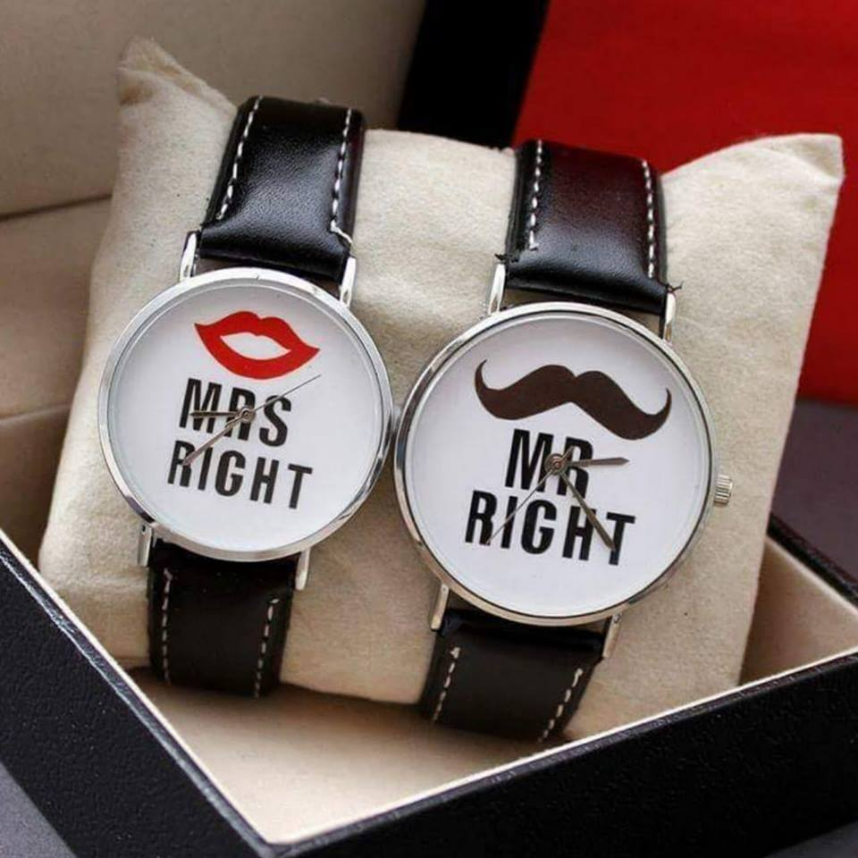 Mr&Mrs Wrist watch AF Leather Strap