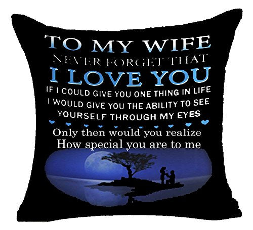 To My Wife Cushion