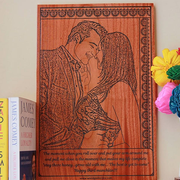 Personalized Wooden Engraved Photo Frame